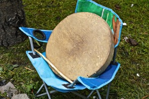 This drum is beat